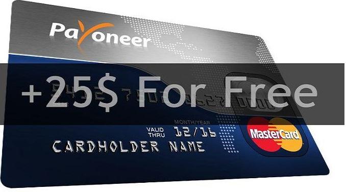Đăng ký thẻ thanh toán Payoneer và nhận 25 USD free