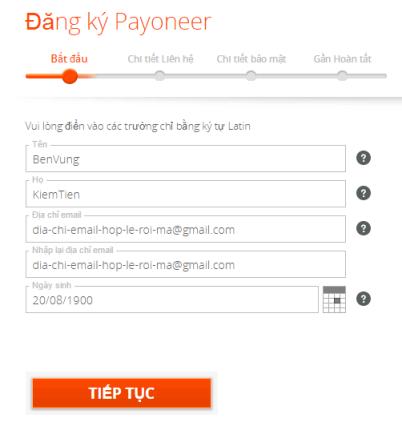 Hướng dẫn đăng ký Payoneer chi tiết mới nhất