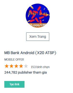 Cách kiếm tiền với MB Bank qua Accesstrade